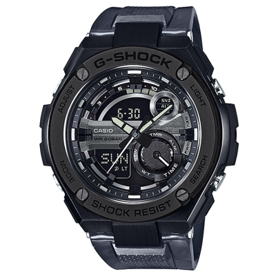 G-SHOCK精密防震分層防護構造概念休閒錶(GST- 210 M- 1 A)迷霧黑 52 . 4 mm