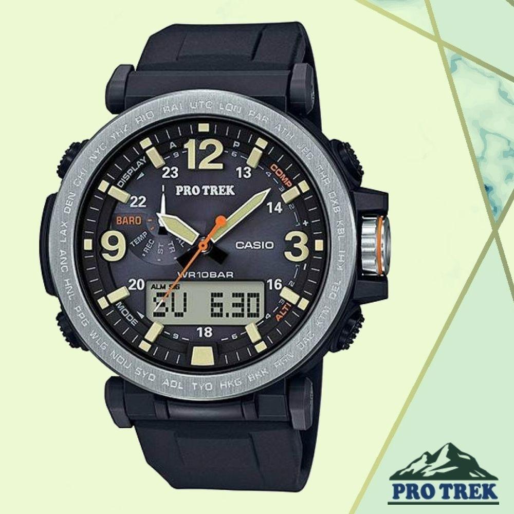CASIO卡西歐 PRO TREK戶外感應登山錶(PRG-600-1D)/57mm