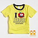 【LOVEDO-艾唯多童裝】我愛蘋果 拼布短袖T恤 (黃)