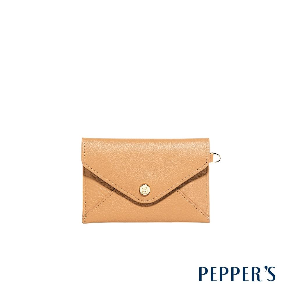 PEPPER'S Doris 牛皮信封卡片包 - 奶茶棕
