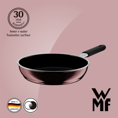 德國WMF FUSIONTEC 深煎鍋24CM-赭紅色(快)