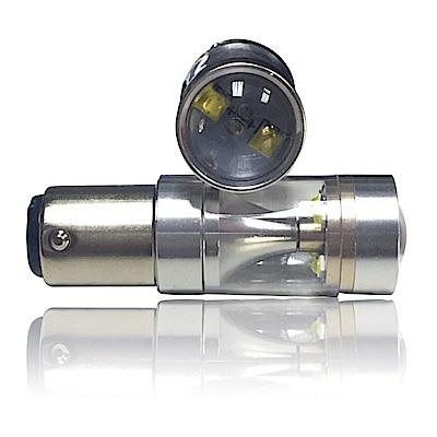 【車的LED】勁亮 1157 高低腳款 爆閃 6LED 魚眼燈 30w 白光(單入組)