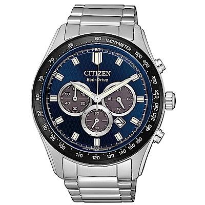CITIZEN星辰 光動能極速強悍計時男錶(CA4454-89L)-藍/43mm