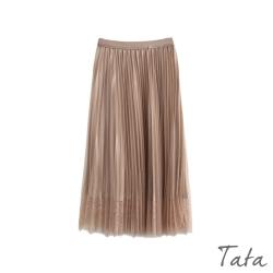 氣質百褶蕾絲紗裙 共二色 TATA-F