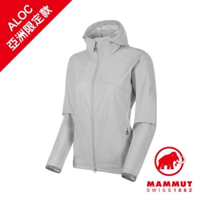 【Mammut 長毛象】GRANITE SO Hooded Jacket AF 防風防潑水軟殼外套 公路灰 女款 #1011-00331