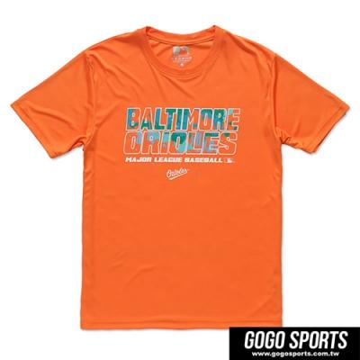 MLB-巴爾的摩金鶯隊潑墨款造型短袖T恤 (男)