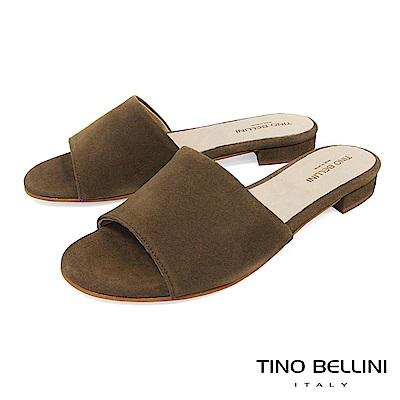 Tino Bellini 西班牙進口極簡自然風平底涼拖鞋 _ 綠