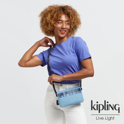 Kipling 天空藍三夾層配件包-CREATIVITY XB