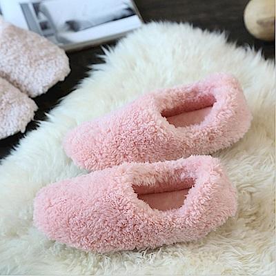 ego life 珊瑚絨包跟包頭男女室內保暖拖鞋