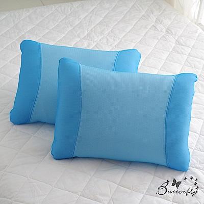 BUTTERFLY-6D夏知透氣涼爽中空枕一入-清爽藍