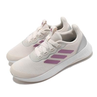 adidas 慢跑鞋 QT Racer Sport 女鞋 愛迪達 路跑 緩震 透氣 球鞋穿搭 米 粉 FY5679