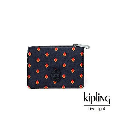 Kipling 紅黃幾何圖騰實用短夾-ALETHEA