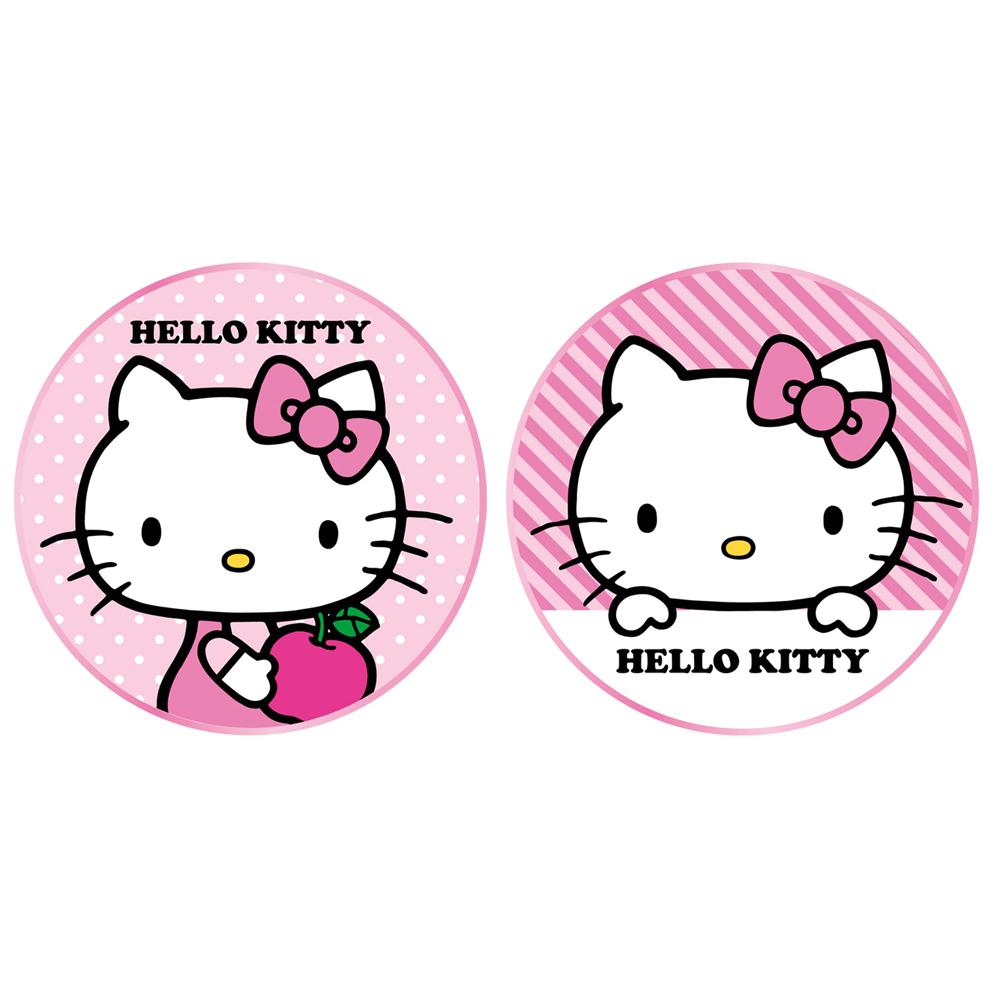 台灣製造 正版三麗鷗授權 Hello kitty 金屬邊框玻璃面無線充電盤 @ Y!購物
