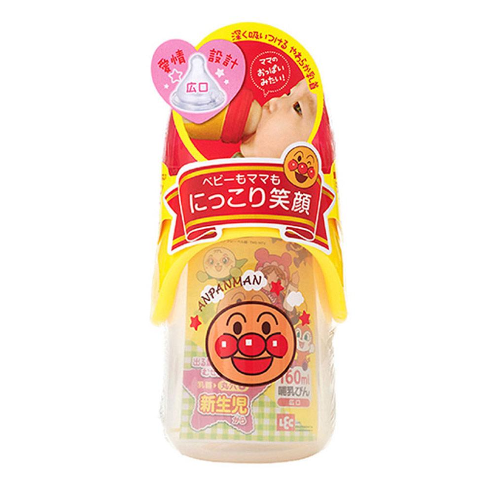 ANPANMAN 麵包超人-AN麵包超人寬口型奶瓶160ml(圓孔)(0m+)