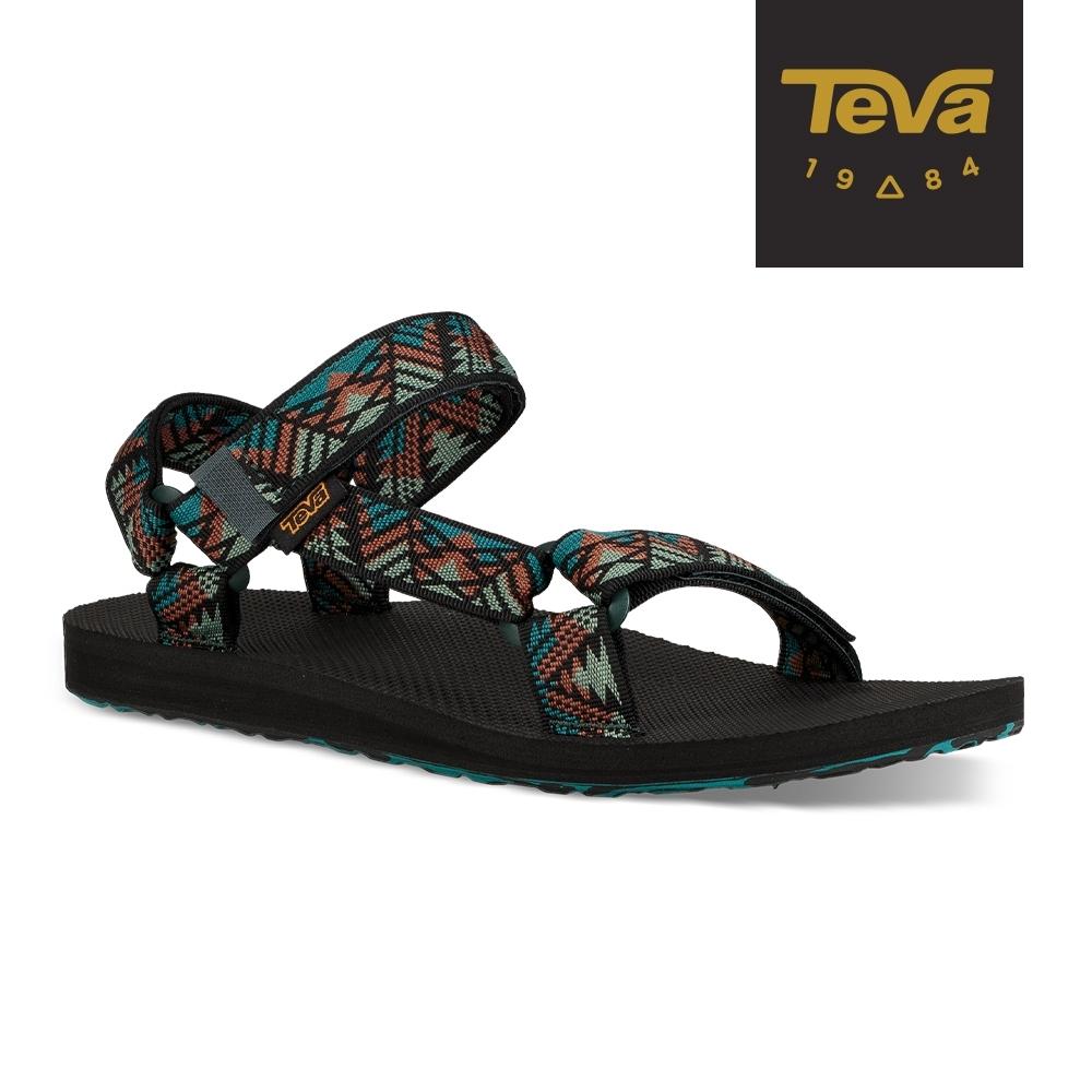 TEVA 男 Original Canyon 經典織帶涼鞋 美國大峽谷款-湖水藍