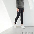 GIORDANO  女裝3M抗汙透氣素色抽繩運動束口褲-09 標誌黑