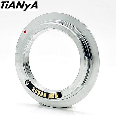 Tianya M42轉成Canon佳能EOS即EF/EF-S接環(無檔板.有第3代合焦晶片