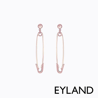 Eyland英國倫敦  DAISY 玫瑰金垂釣迴紋針個性耳環