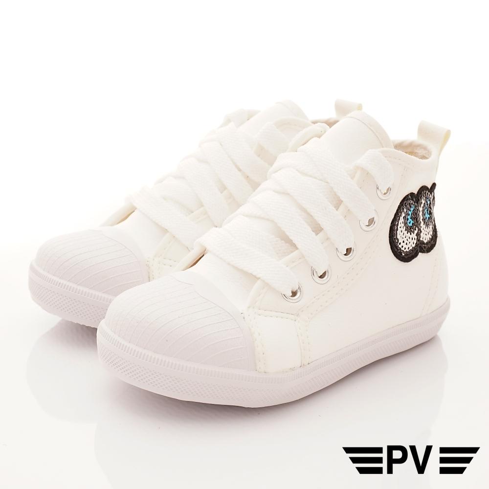 PV日系私藏 大眼亮片時尚貝殼鞋款 P-829白(中小童段)