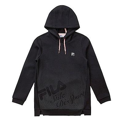 FILA KIDS 童連帽長版上衣-黑色 5TES-8324-BK