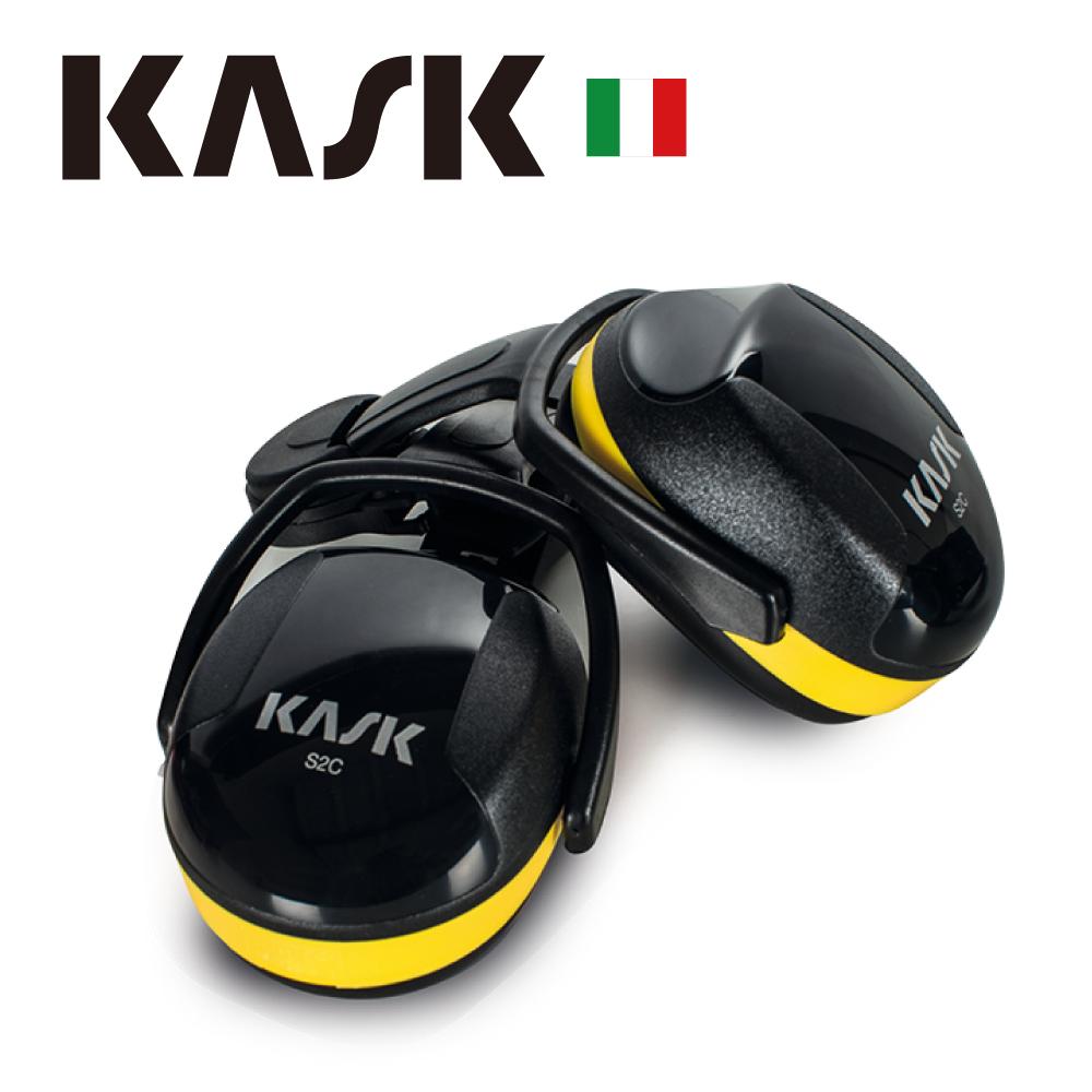 【義大利KASK】SC2防噪音耳罩-黃色