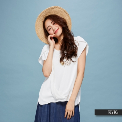 【KiKi】上班族優雅飄逸-襯衫(二色)