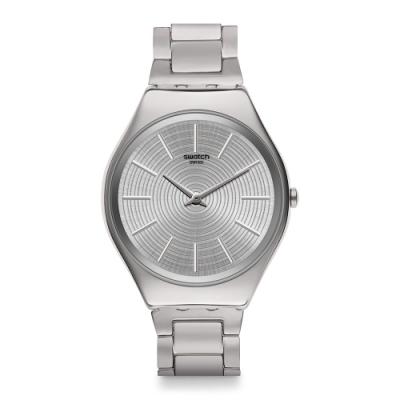 Swatch Skin Irony 超薄金屬系列手錶 GREYTRALIZE時間由你創造-38mm