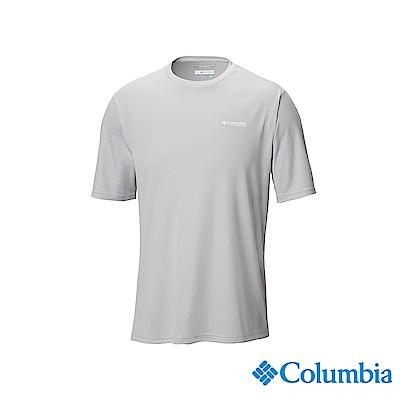 Columbia哥倫比亞 男款-UPF50快排短袖上衣-灰色 UFE00730GY
