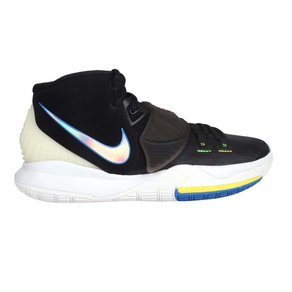 NIKE KYRIE 6 EP 男籃球鞋-避震 厄文 魔鬼氈 中筒 氣墊 BQ4631004 黑藍銀