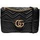 GUCCI  GG Marmont bag 雙鏈翻蓋包(黑色) product thumbnail 1