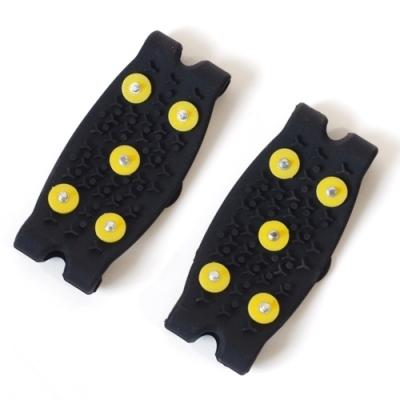 日本NEEDS通用滑雪地防滑鞋套防滑釘鞋針鞋冰爪防滑鞋爪677806簡単装着雪上スパイク適日本北海道下雪季
