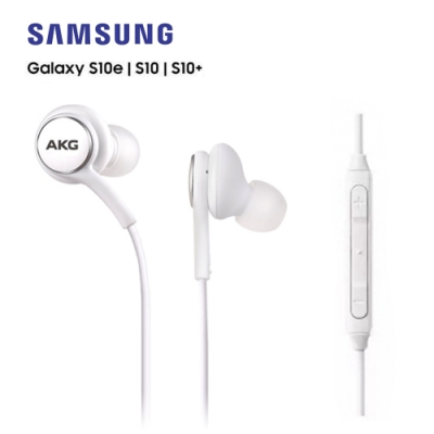 【SAMSUNG 三星】原廠 S10 AKG入耳式線控編織耳機(平輸密封包裝) 白色