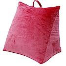 Gloria 時尚水晶絨可水洗三角抬腿枕-粉紅色