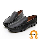 【GEORGE 喬治皮鞋】舒適系列  舒適直套式休閒鞋-黑色