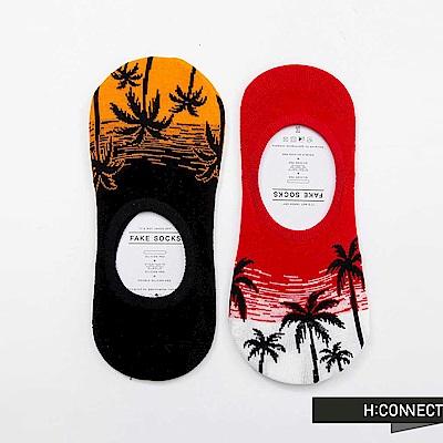 H:CONNECT 韓國品牌 - 度假風配色隱形男襪組