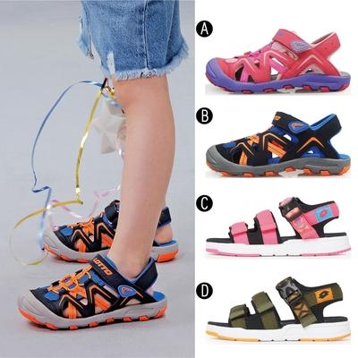 【時時樂限定6折】LOTTO 義大利 童鞋 護趾運動涼鞋/輕量織帶涼鞋(4款任選)