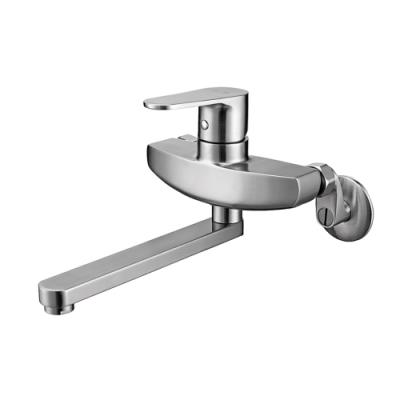 BOSS 304不鏽鋼壁式浴缸龍頭(出水管20cm)