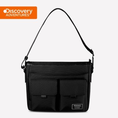 【Discovery Adventures】City雙層立體口袋側背包(大)-黑色