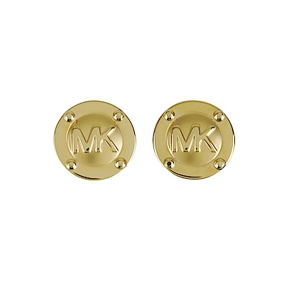 MICHAEL KORS 經典LOGO金屬穿式耳環(金)