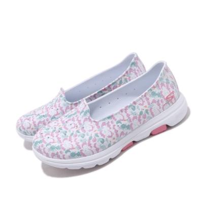 Skechers 水鞋 Go Walk 5-Blossoms 女鞋 雨天必備 快速排水 好穿脫 快乾 白 彩 111106WMLT
