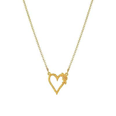 Dogeared 美國品牌 玫瑰鏤空空愛心 金色項鍊