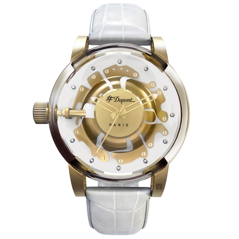 S.T.Dupont 都彭  HYPERDOLME系列 禮讚真我石英錶-43mm  065130F