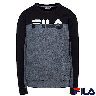 FILA男吸排圓領T恤-黑 1 TER- 5407 -BK