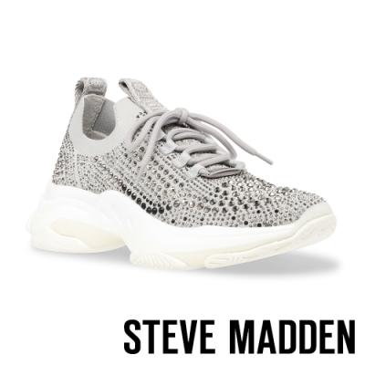 STEVE MADDEN-MACKIE 水鑽網布拼接運動休閒女鞋-灰色