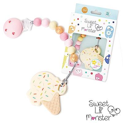 【Sweet Lil Monster】香草棉花糖冰淇淋固齒器/奶嘴鍊