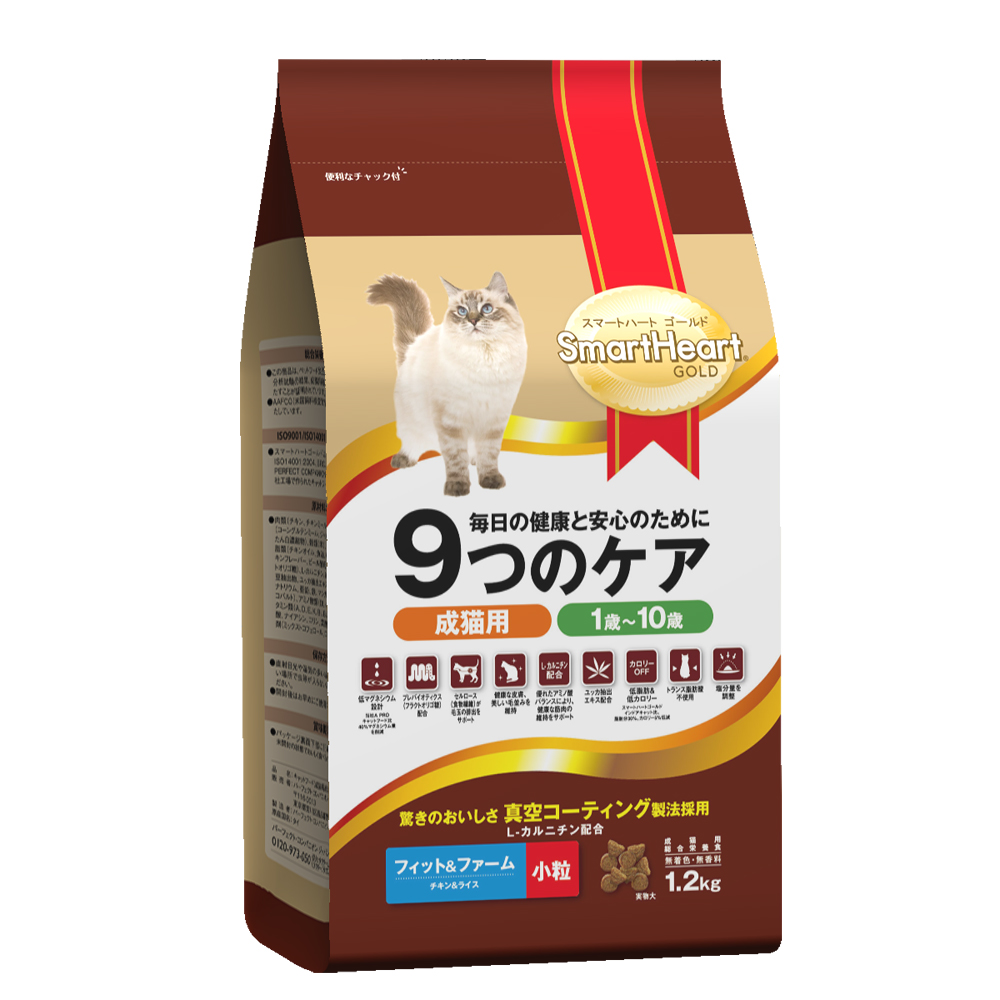 SmartHeart GOLD 慧心機能貓糧 - 窈窕貓配方(雞肉+米) 1.2kg
