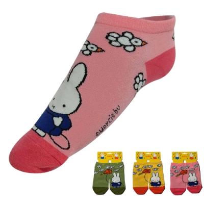 Miffy 米飛 棉質米飛放風箏圖案設計女性船襪~12雙