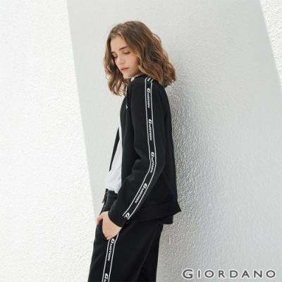 GIORDANO 女裝G-MOTION品牌LOGO運動外套 - 01 標誌黑