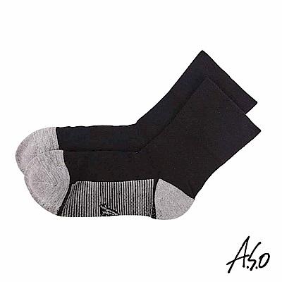 A.S.O 遠紅外線系列 除臭寬口襪-黑