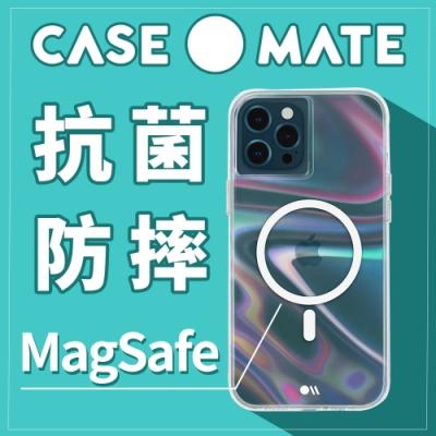美國 Case●Mate iPhone 12/12 Pro Soap Bubble 幻彩泡泡防摔抗菌MagSafe專用手機保護殼